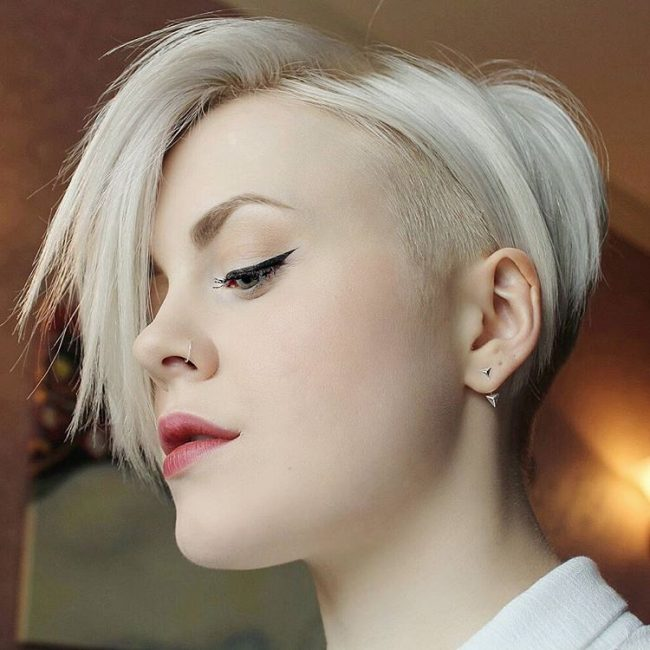 Platinum Blonde & Silver for Pixie Cut