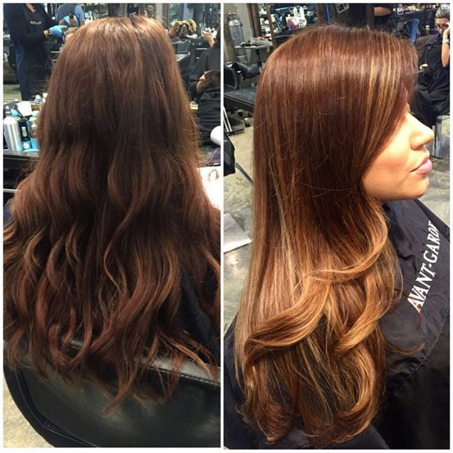 Pleasant Golden Tone Balayage