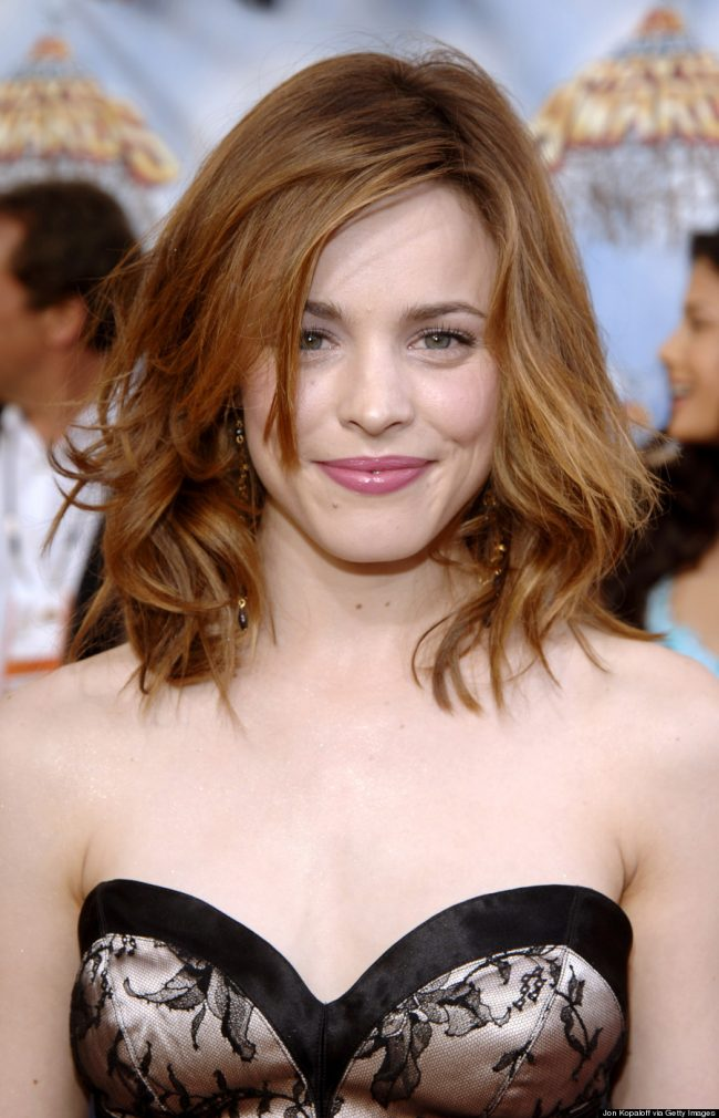 Rachel McAdams' Choppy and Textured Bangs