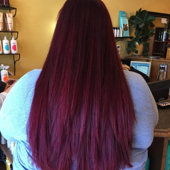 Red Burgundy Ombre