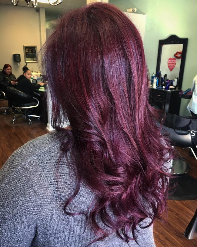 4 Red Violet Swirls