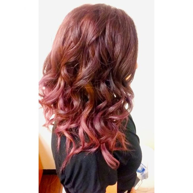 Red and Purple Ombre Hair