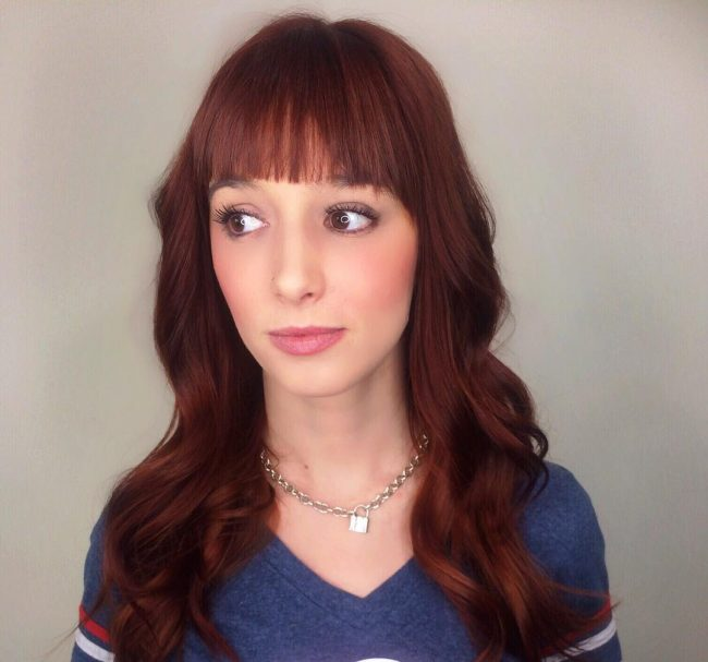 Rich Burgundy Bangs