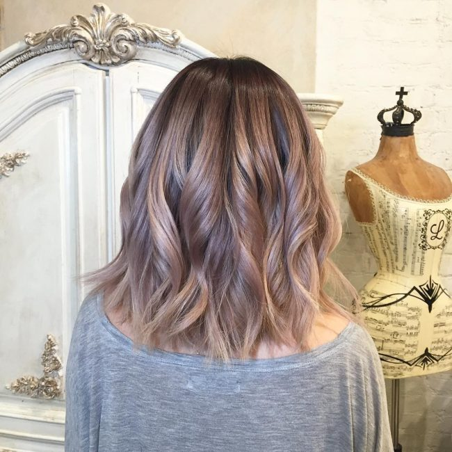 Rose Gold Balayage Ombré