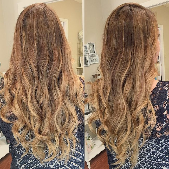 Seamless Blend of Blonde and Caramel