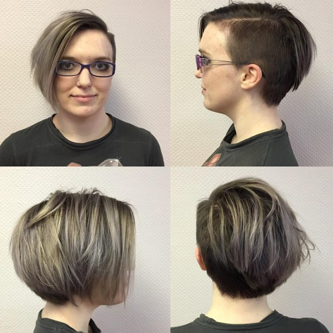 Short Bob with Shaved Side