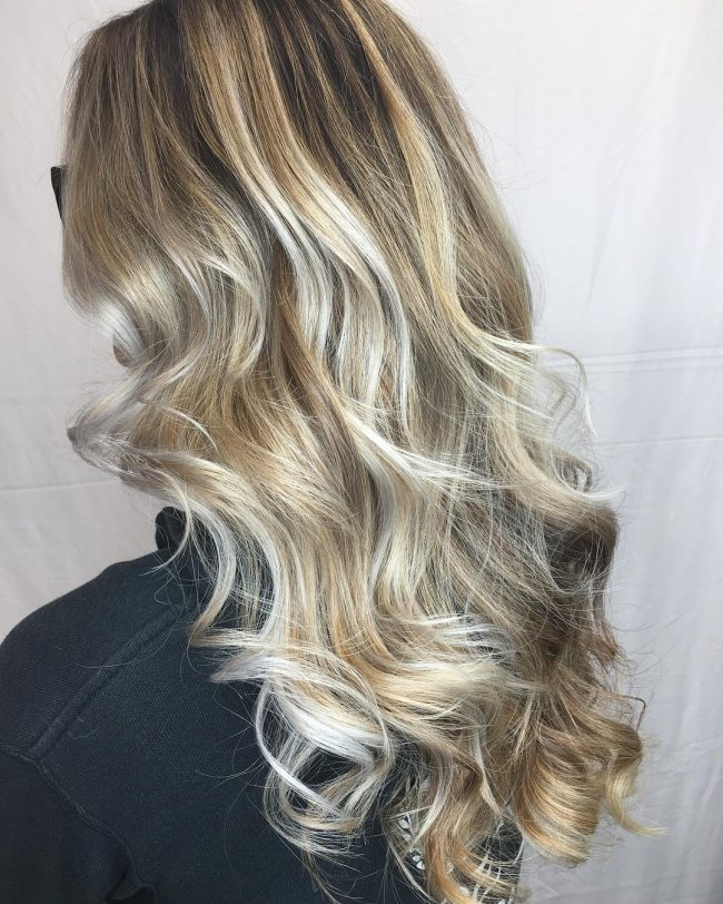 Silver Blonde Balayage on Point