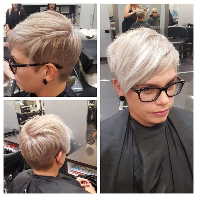 Silver Blonde for Short Hair