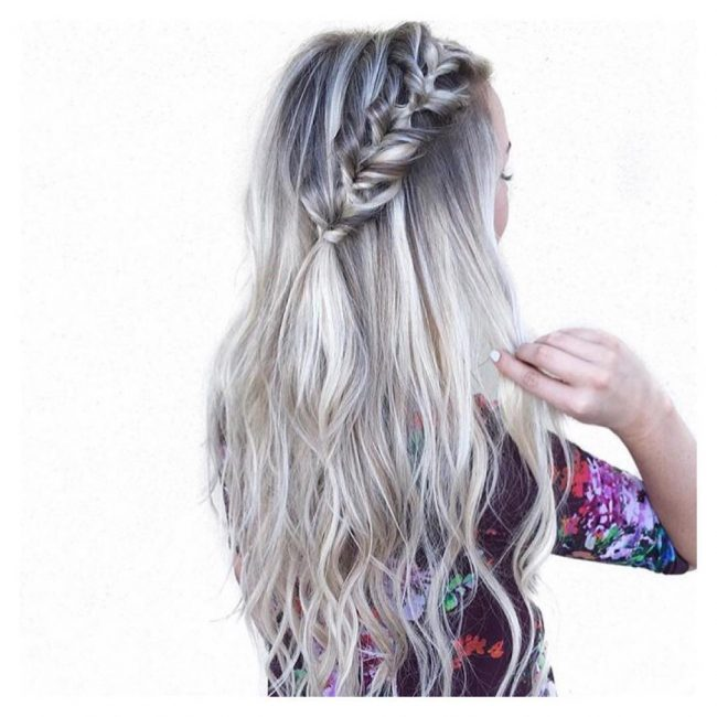Silver Ombré Side Braid