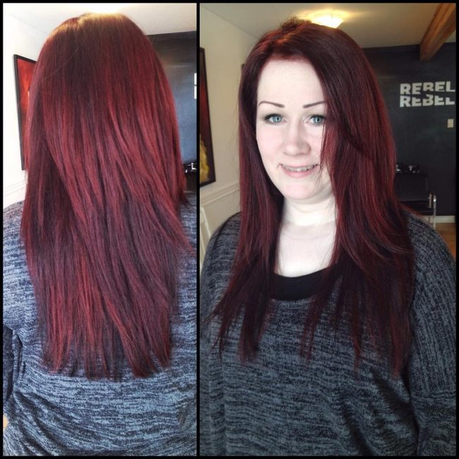 Simple Long Red Shag