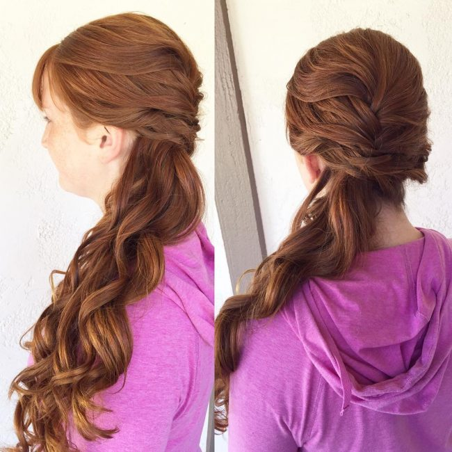 Simple and Loose Side Braid