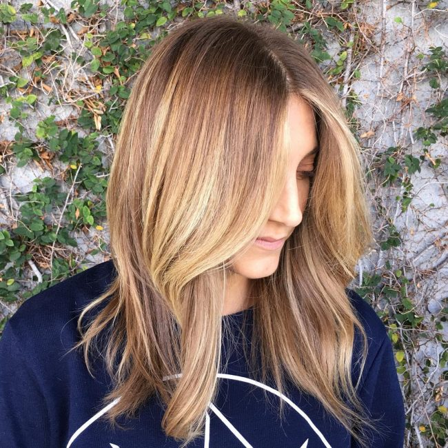 Soft and Subtle Blonde Color Melt