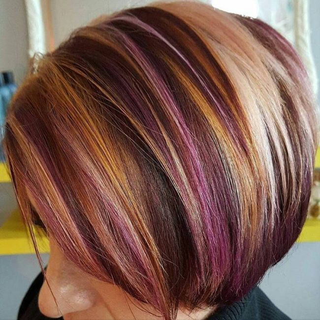 Stacked Multicolored Bob