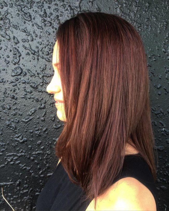 Straight and Layered Chocolate Lob