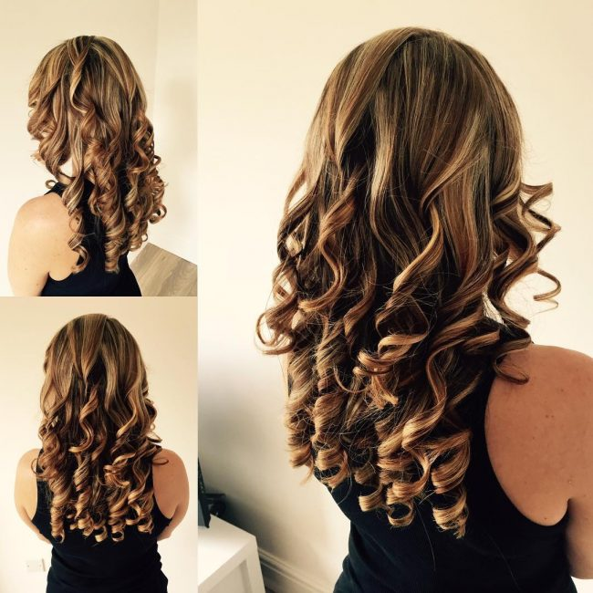 Stunning Golden Blonde Curls