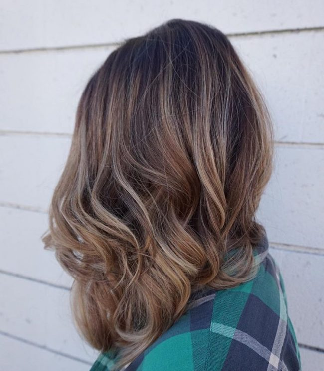 Subtle Caramel on Beach Waves