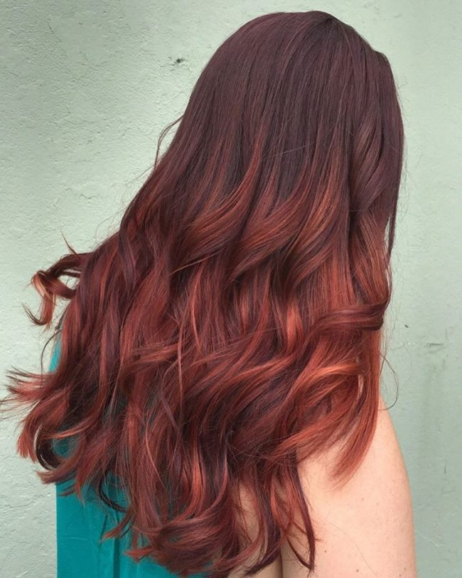 Textured Red Wine Ombre