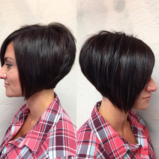 25 amazing stacked bob haircuts best classy silhouettes 1 textured short a line winobraniefo Images