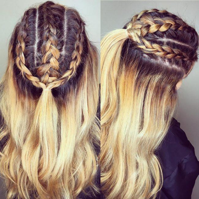 Trendy Dutch Braids