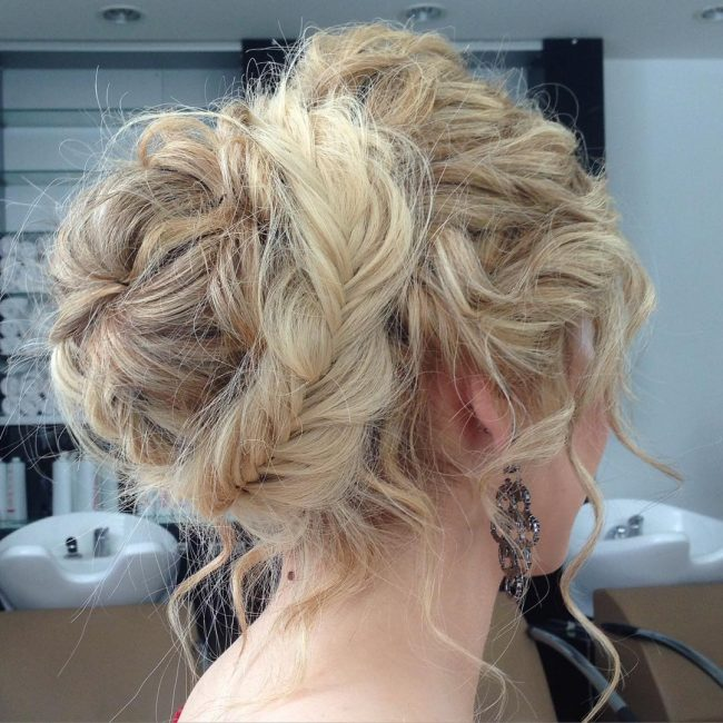 Trendy Messy Braided Bun
