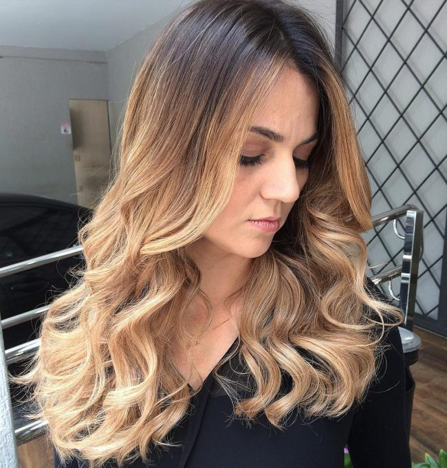 Trendy Waves With a Center Part