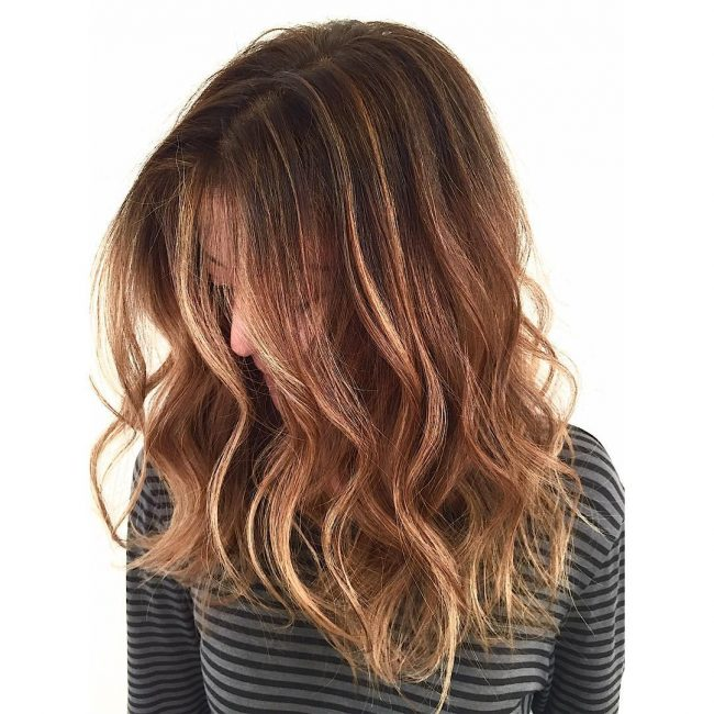 Warm and Wavy Caramel