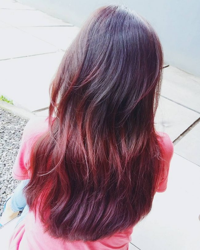 Wavy Purple and Red Pattern