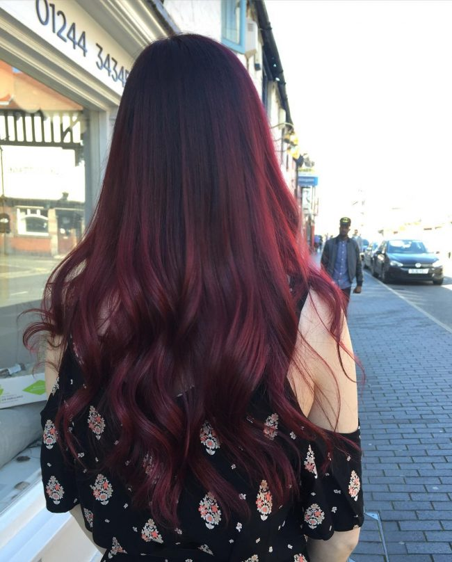 Wavy Velvet Red Hair Color