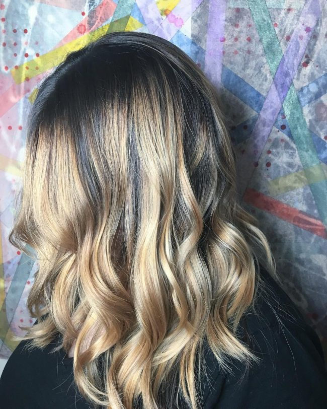 Adorable Black to Golden Ombre