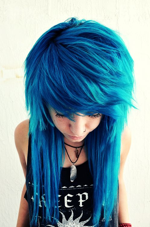 Amazing Cobalt Blue Bangs