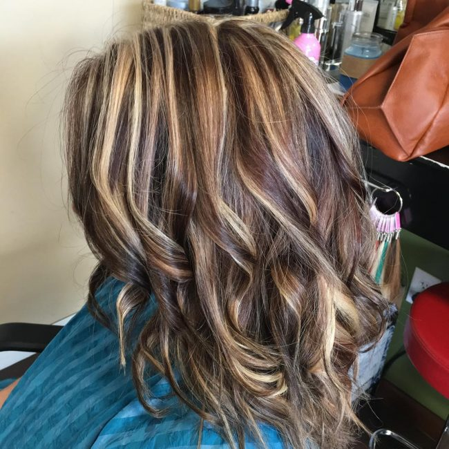 Ash Blonde and Chocolate Streaks