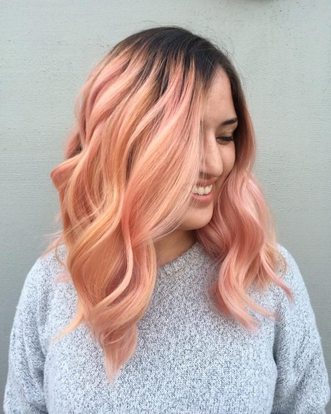 Baby Pinkish Coral Ombre