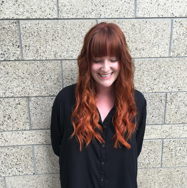Beachy Copper Bangs