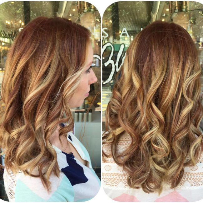 50 amazing hairstyles with highlights and lowlights 42 beautiful copper and caramel streaks pmusecretfo Image collections