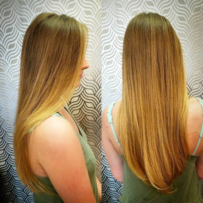 Beautiful Honey Orange Balayage