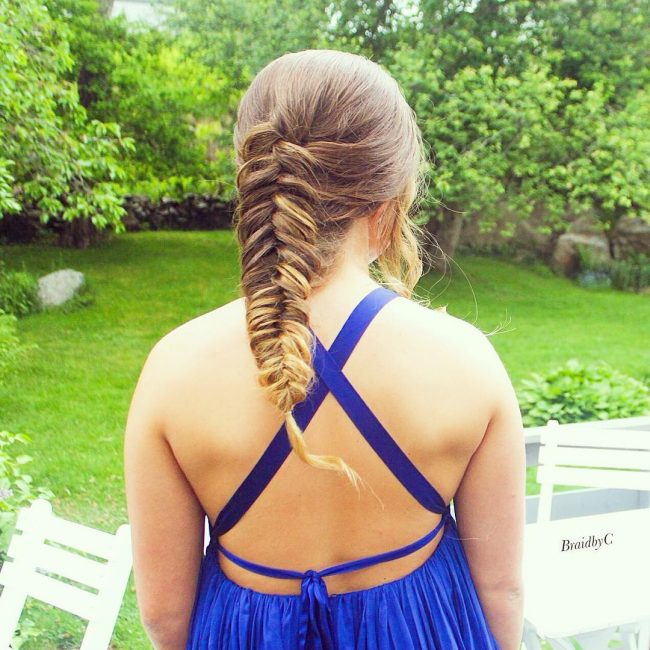 Big Fishtail Braid for Updo