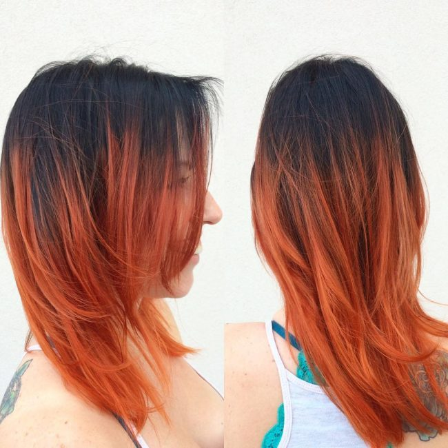 Black to Ginger and Red Melt