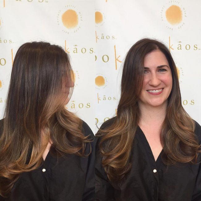 Blend of Blonde Highlights in Ombre