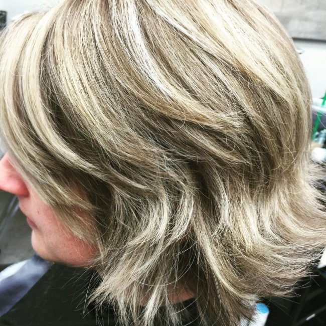 Blend of Icy Blonde and Honey