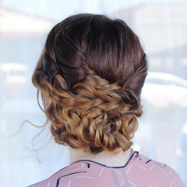 19 Bohemian Braid Updo