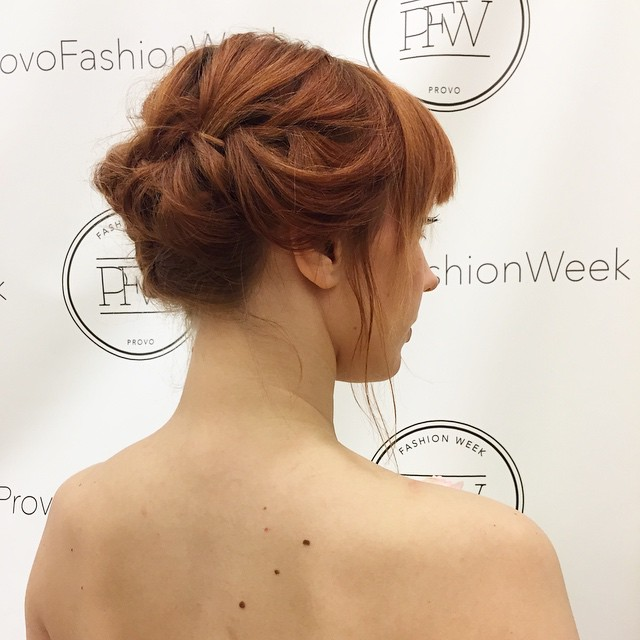Braided Updo for Short-Haired Redhead