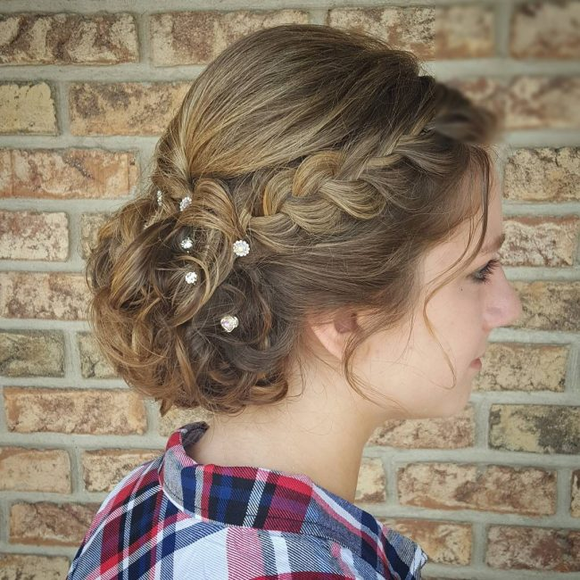 Braided Updo with Loose Bun