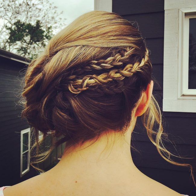 Braided Updo with Volume