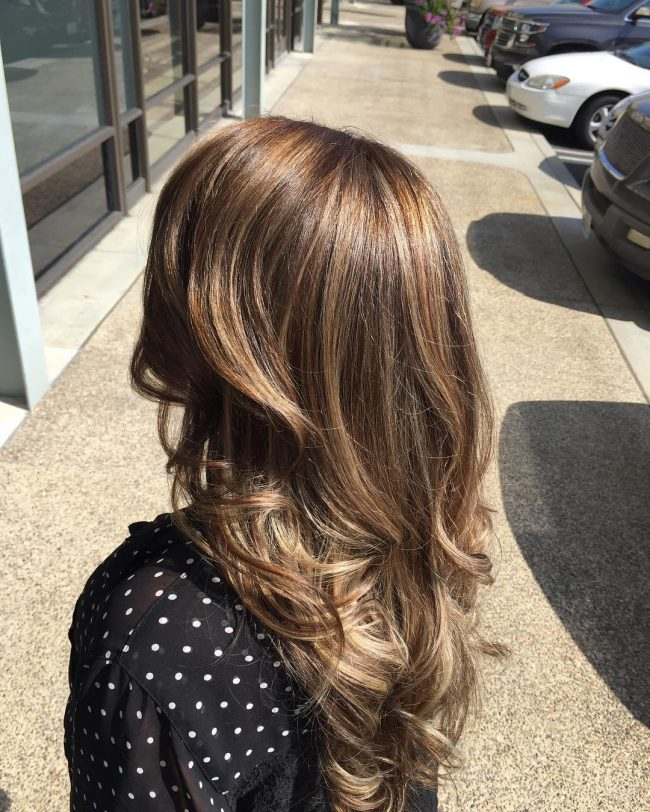 Charming California Blonde Highlights