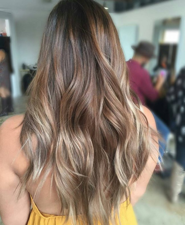 Champagne Balayage Ombre