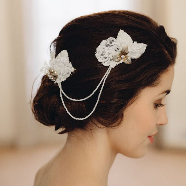 Charming Updo and Headpiece