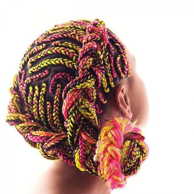 Colorful Afro Braids