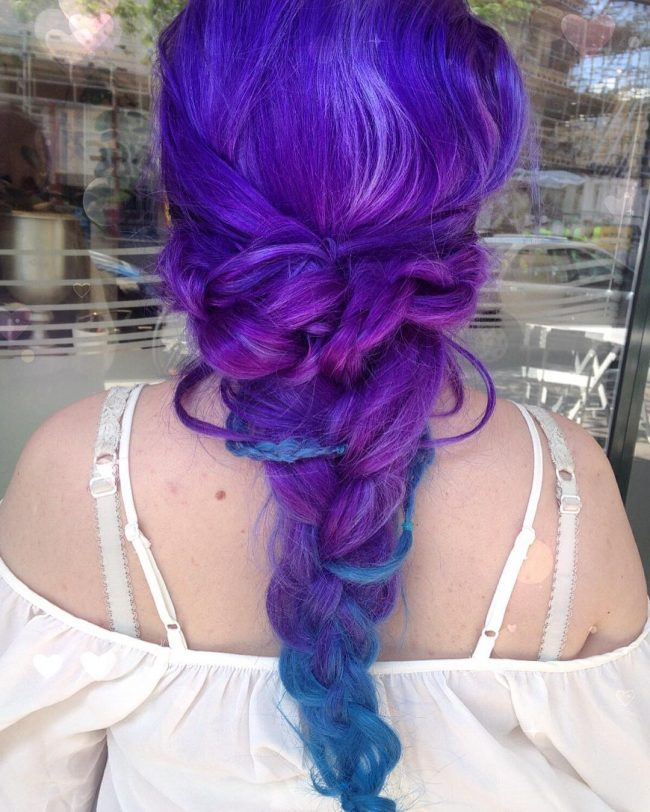 Colorful Messy Updo