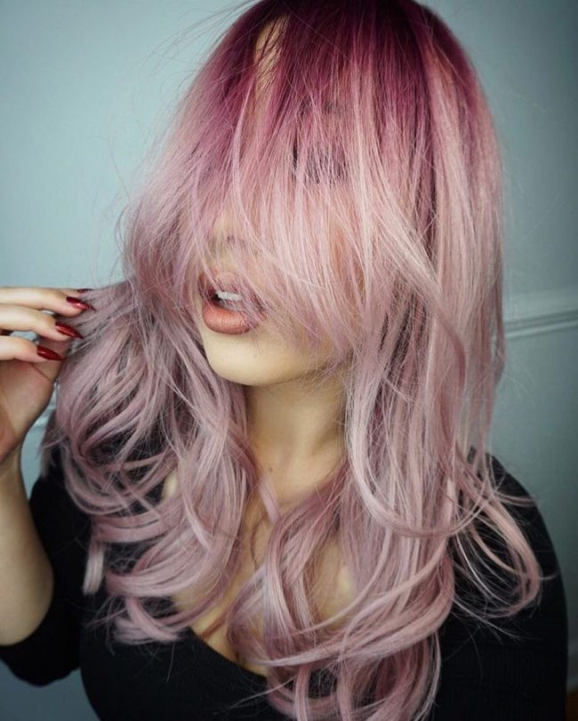 Crazy Pink Pastel Ombre