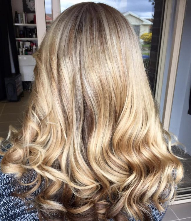 Crispy Blonde Waves